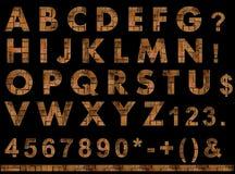fonte tipografica di struttura dei mattoni Fotografie Stock Libere da Diritti