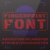 Fonte tipografica di vettore Fotografia Stock