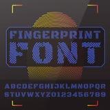 Fonte tipografica di vettore Fotografie Stock