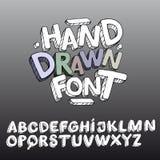 Fonte tipografica disegnata a mano Immagini Stock