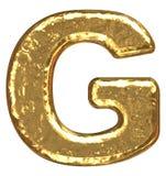 Fonte tipografica dorata. Lettera G. Immagini Stock