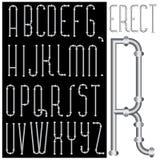 Fonte tipografica eretta Immagini Stock