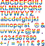 Fonte tipografica felice di colore Fotografia Stock Libera da Diritti