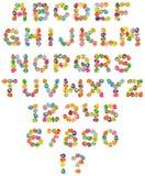 Fonte tipografica felice di Pasqua Fotografia Stock
