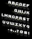 Fonte tipografica field.vector Fotografia Stock