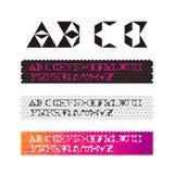 Fonte tipografica geometrica di frattalo d'avanguardia Immagine Stock