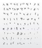 Fonte tipografica Grungy della curvatura royalty illustrazione gratis