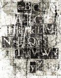 Fonte tipografica metallica di Grunge Fotografie Stock Libere da Diritti