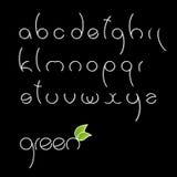 Fonte tipografica rotonda molto semplice. Fotografie Stock Libere da Diritti