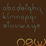 Fonte tipografica rotonda molto semplice. Immagine Stock