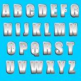 Fonte tipografica Type_Metal Immagini Stock Libere da Diritti