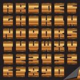 Fonte tipografica Yamakov Fotografia Stock