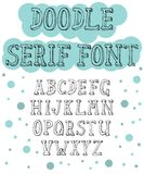 Fonte tirada mão do serif para projetos diferentes ilustração royalty free
