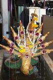 Fonte tradicional de buddha da serpente de muitas cabeças Imagem de Stock Royalty Free