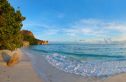 Fonte tropical D'Argent da praia em Seychelles Imagem de Stock Royalty Free