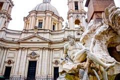 Fonte Zeus em Berninis, Roma, Itália fotos de stock royalty free