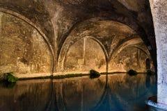 Fontebranda est l'une de fontaines médiévales de Sienne, Italie photographie stock