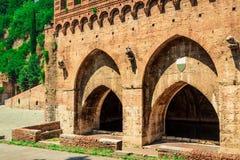Fontebranda fountains in Siena. Tuscany, Italy Royalty Free Stock Photos