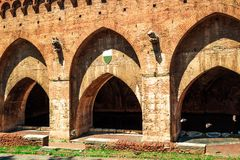Fontebranda fountains in Siena. Tuscany, Italy Stock Photo