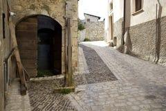 Fontecchio, centrum royalty-vrije stock foto