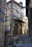 Fontecchio, centrum Stock Afbeeldingen