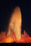 Fontein bij nacht royalty-vrije stock afbeelding