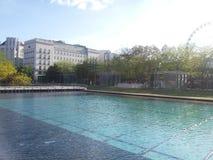 Fontein in Boedapest Stock Fotografie