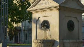 Fontein in Boedapest stock videobeelden