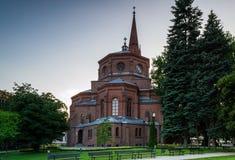 Fontein in de stad van Bydgoszcz, Polen royalty-vrije stock foto's