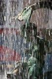 Fontein in de stadsvierkant van Grenoble Stock Afbeeldingen
