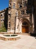 fontein en steen de bouw stock afbeelding