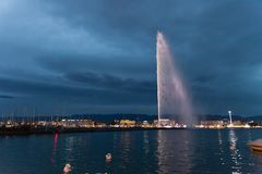 Fontein in Genève Stock Foto's