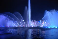 Fontein Globaal Centrum van Chengdu Royalty-vrije Stock Foto's