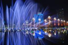 Fontein Globaal Centrum van Chengdu Stock Afbeelding