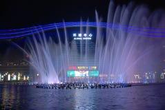 Fontein Globaal Centrum van Chengdu Stock Fotografie