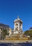 Fontein heilige-Sulpice, Parijs Royalty-vrije Stock Fotografie