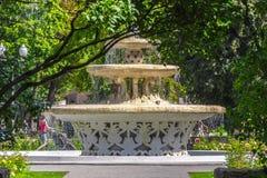 Fontein in het de zomerpark Royalty-vrije Stock Fotografie