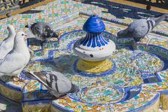 Fontein in het Maria Luisa-park, Sevilla Stock Afbeelding