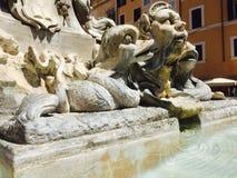 Fontein in het Pantheon Royalty-vrije Stock Afbeelding