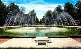 Fontein in het park Royalty-vrije Stock Afbeeldingen