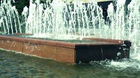 Fontein in het park stock footage