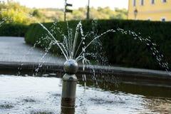 Fontein in het park Brno, Tsjechische Republiek royalty-vrije stock fotografie