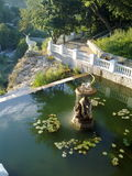 Fontein in het park kamenets-Podolskiy, de Oekraïne Royalty-vrije Stock Afbeelding
