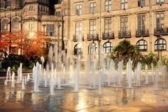 Fontein in het stadscentrum Royalty-vrije Stock Foto