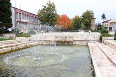 Fontein in het stadscentrum van Berkovitsa Royalty-vrije Stock Afbeelding