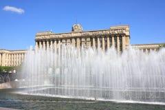 Fontein in het Vierkant van Moskou Royalty-vrije Stock Foto's