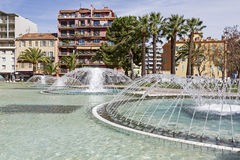 Fontein in L'Esplanade Francis Giordan stock foto's
