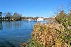 Fontein in Louis Lake bij blootvoets het Landen royalty-vrije stock foto