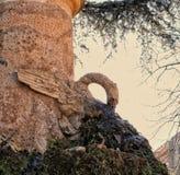 Fontein met adelaarsstandbeeld stock afbeelding