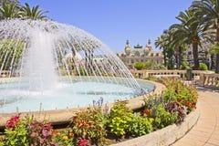 Fontein in Monte Carlo Stock Foto's
